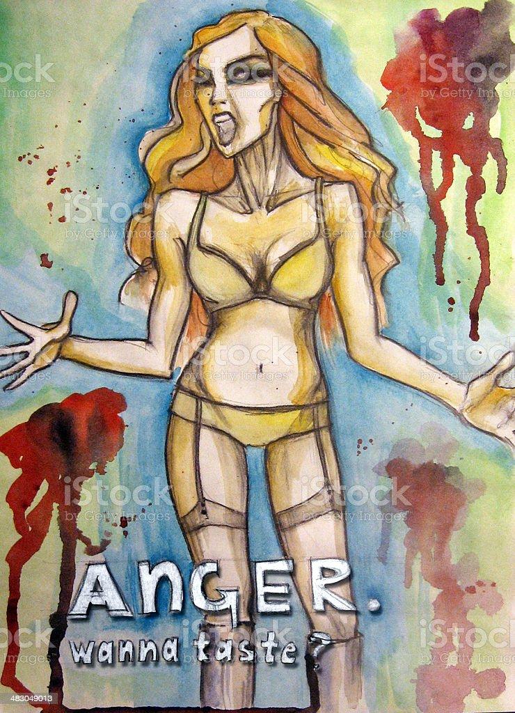 Anger royalty-free stock vector art