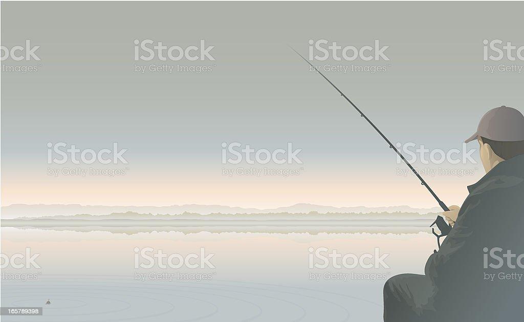 Angler pale vector art illustration