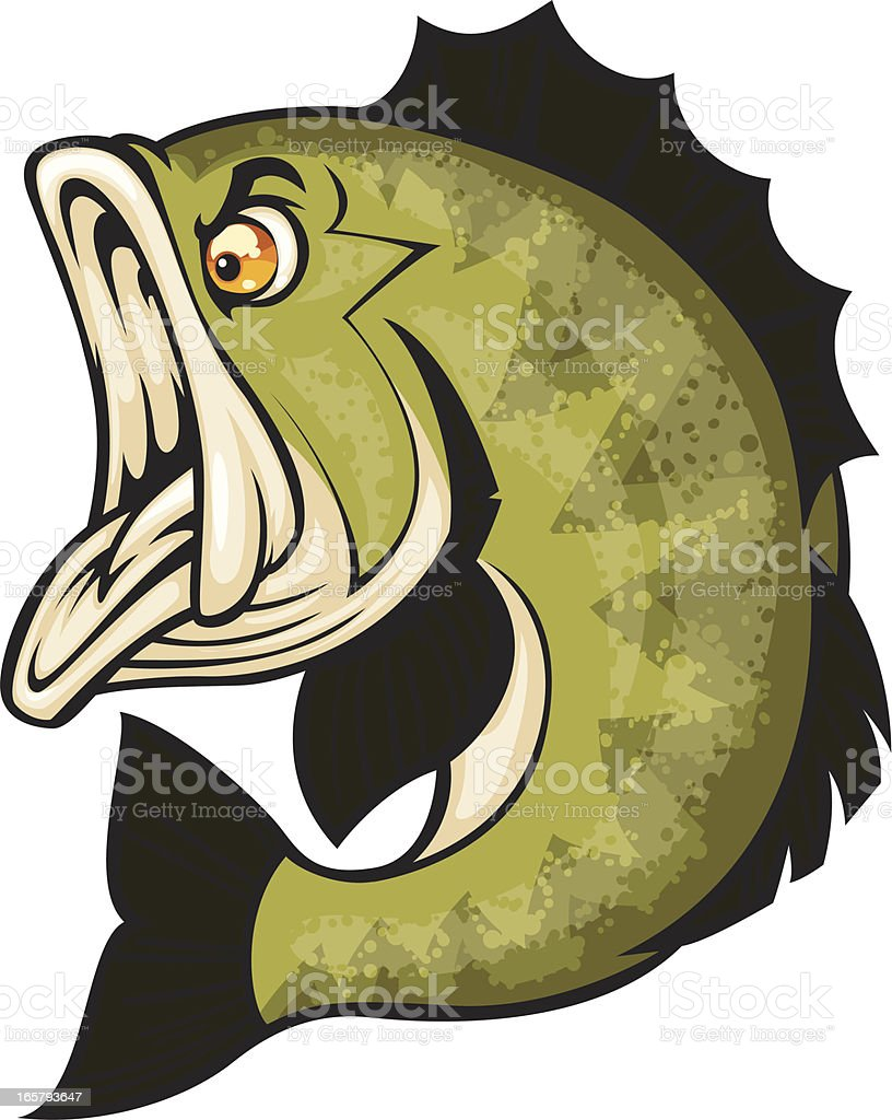 angry bass royalty-free stock vector art