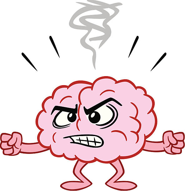 Image result for clipart angrybrain