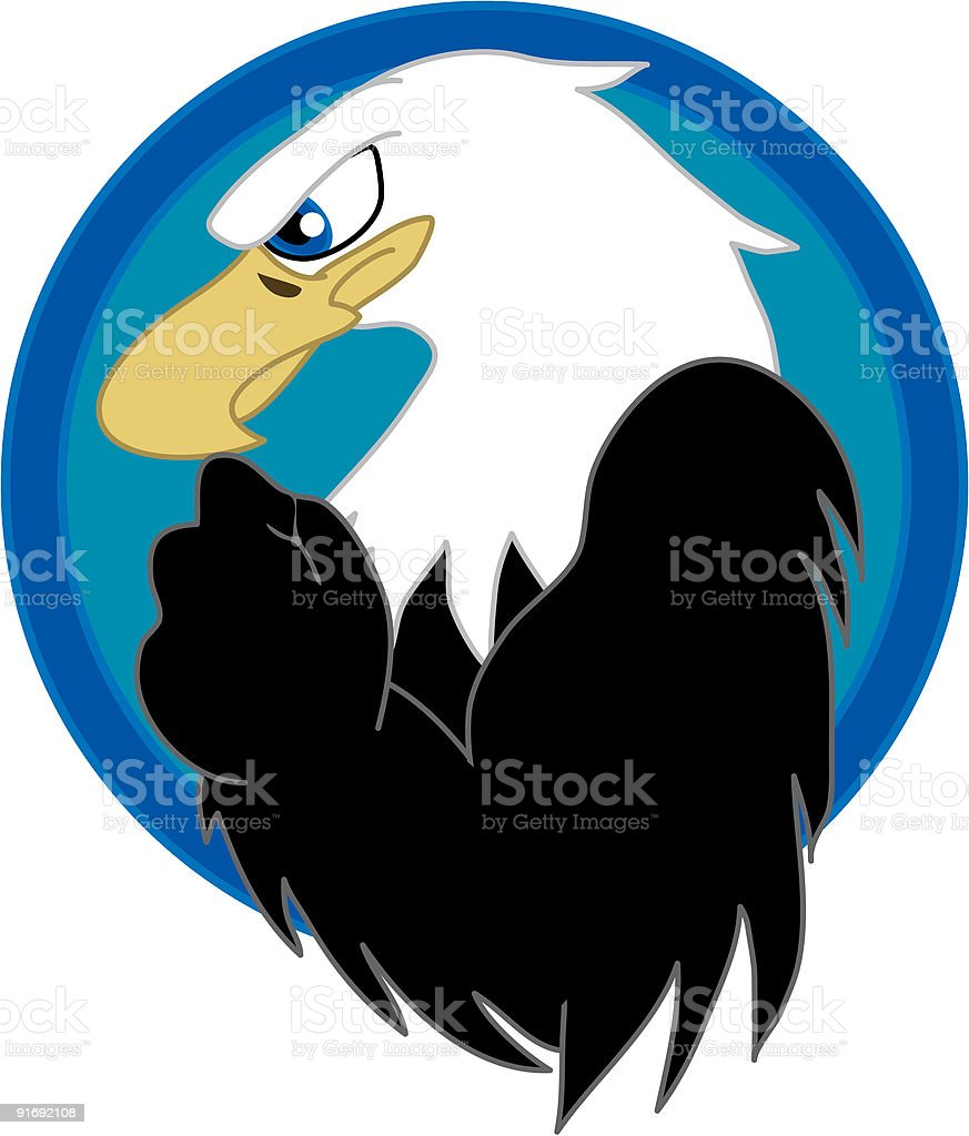Angry Eagle vector art illustration