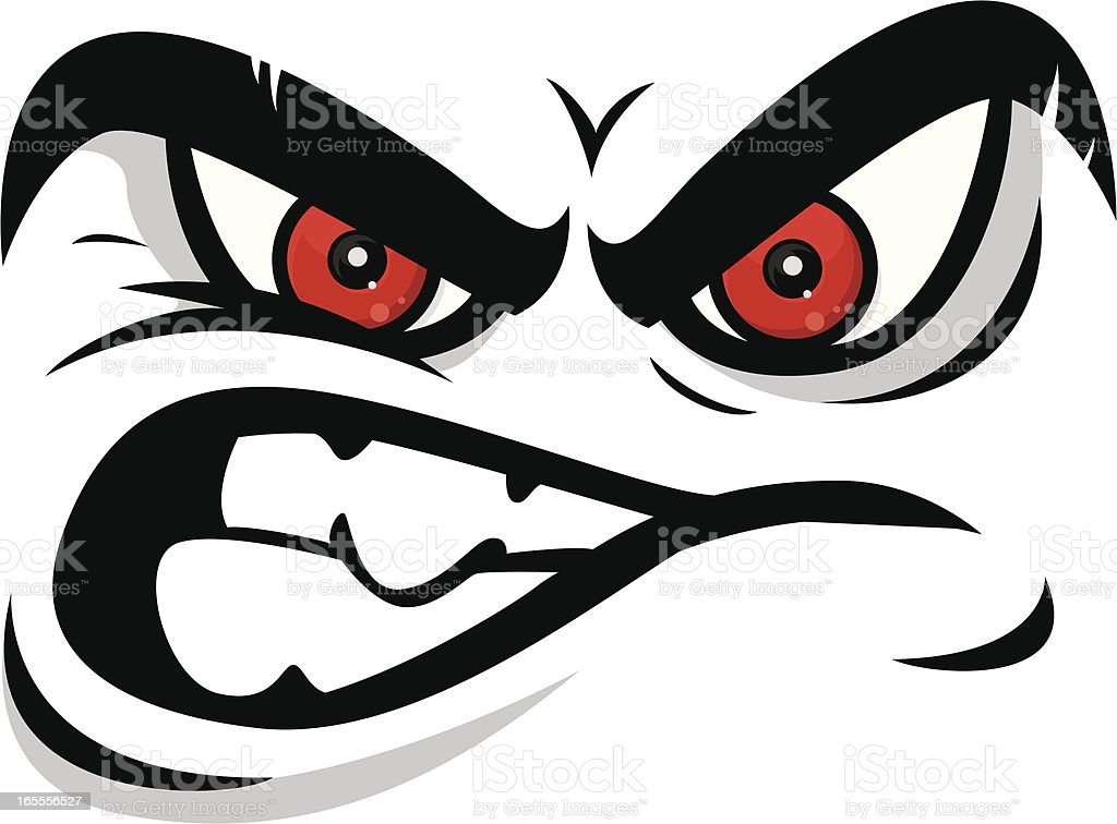 angry face vector art illustration