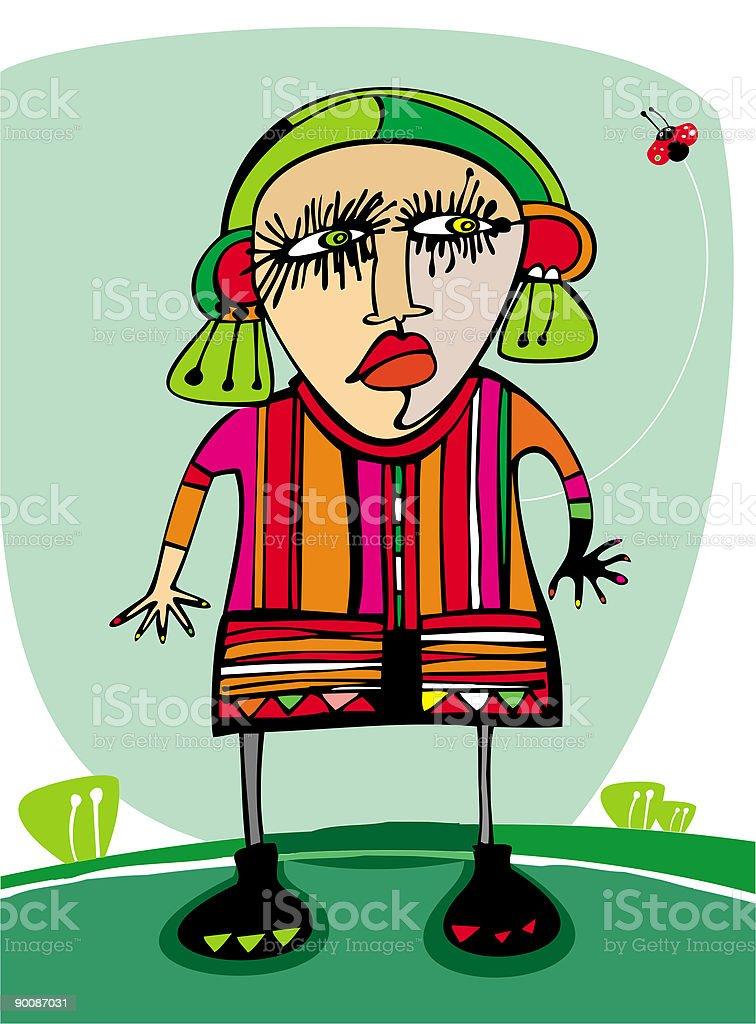 Angry girl royalty-free stock vector art
