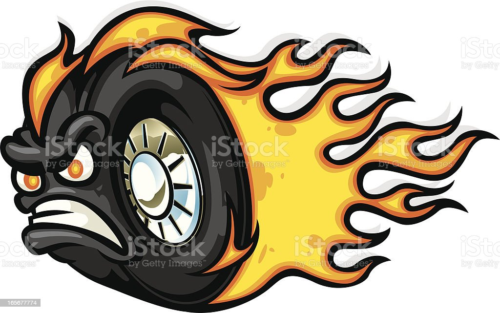 angry tread vector art illustration