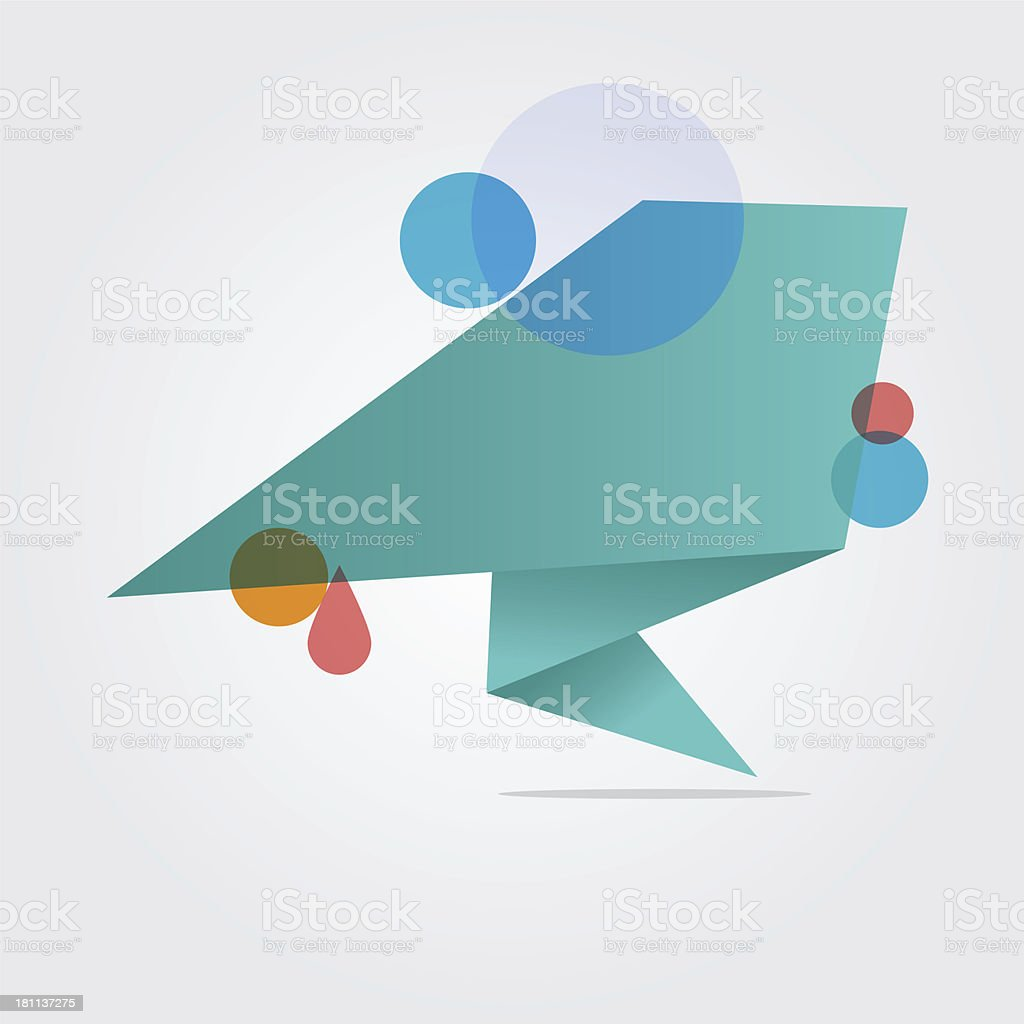 Angular speech bubble royalty-free stock vector art