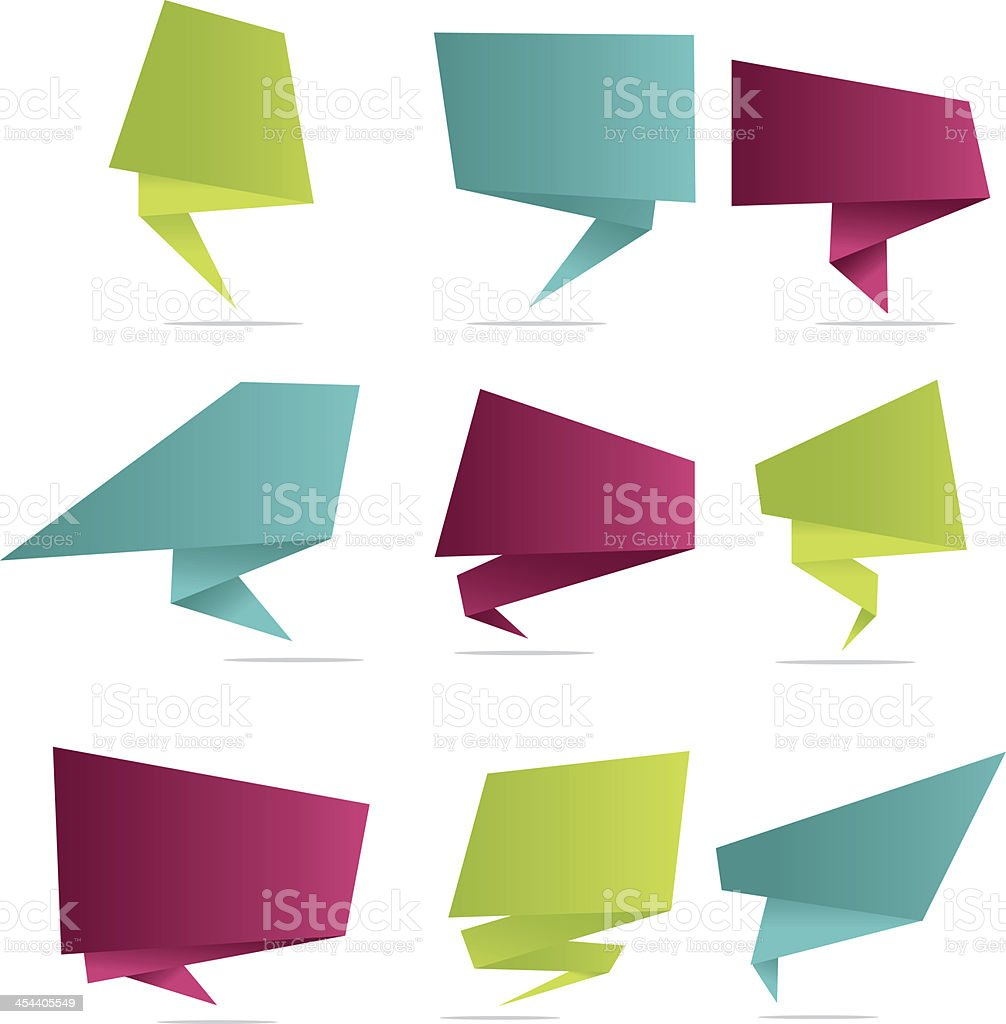Angular speech bubbles royalty-free stock vector art