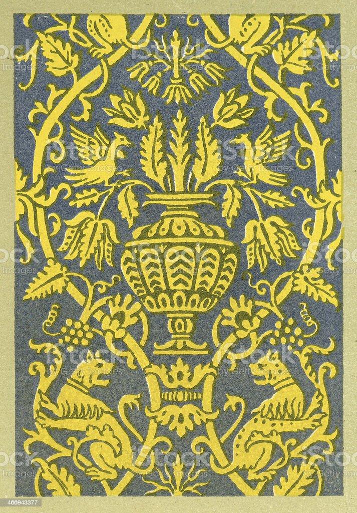 Animal Affrontes Pattern - 16th Century royalty-free stock vector art