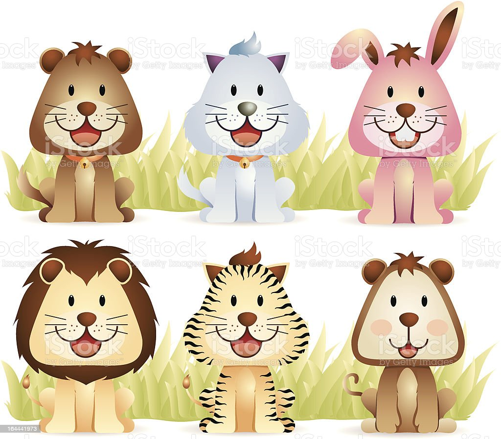 Animal Collection part 1 royalty-free stock vector art