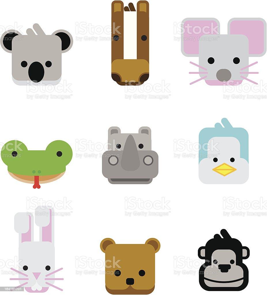 animal farm 03| icon set royalty-free stock vector art