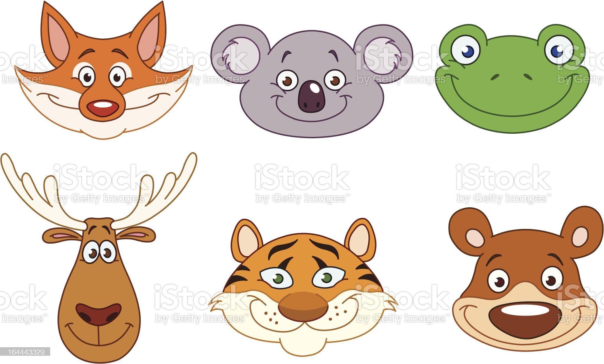 Animal heads 3 royalty-free stock vector art