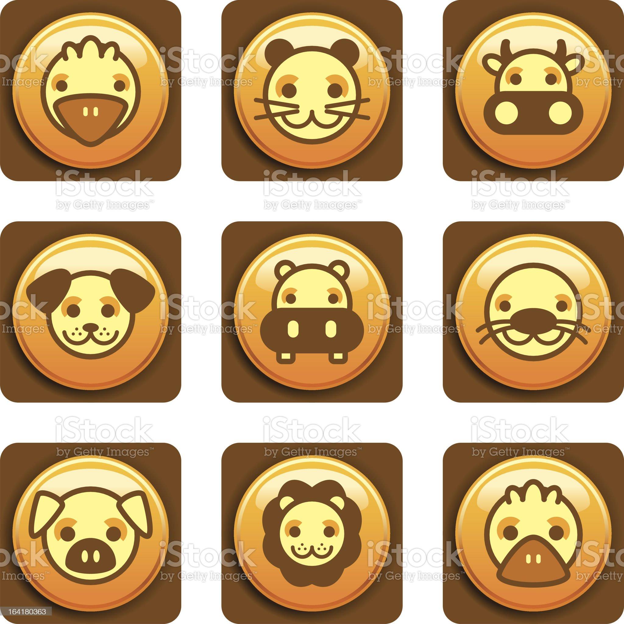 Animal Icons royalty-free stock vector art
