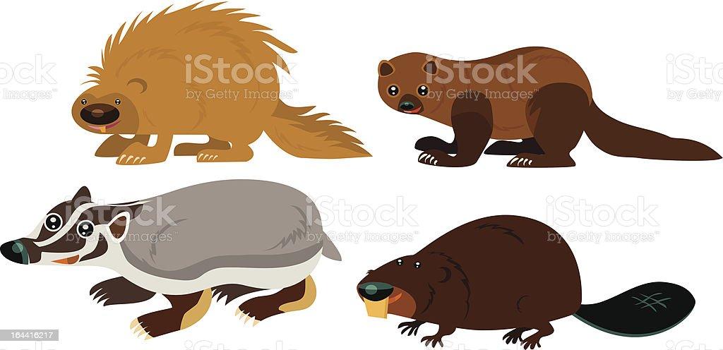 Animal Page vector art illustration