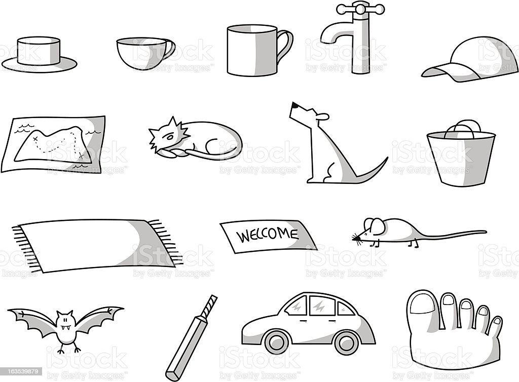 CVC animals and objects royalty-free stock vector art