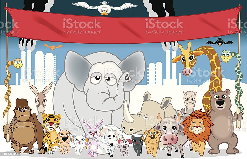 animals protest royalty-free stock vector art