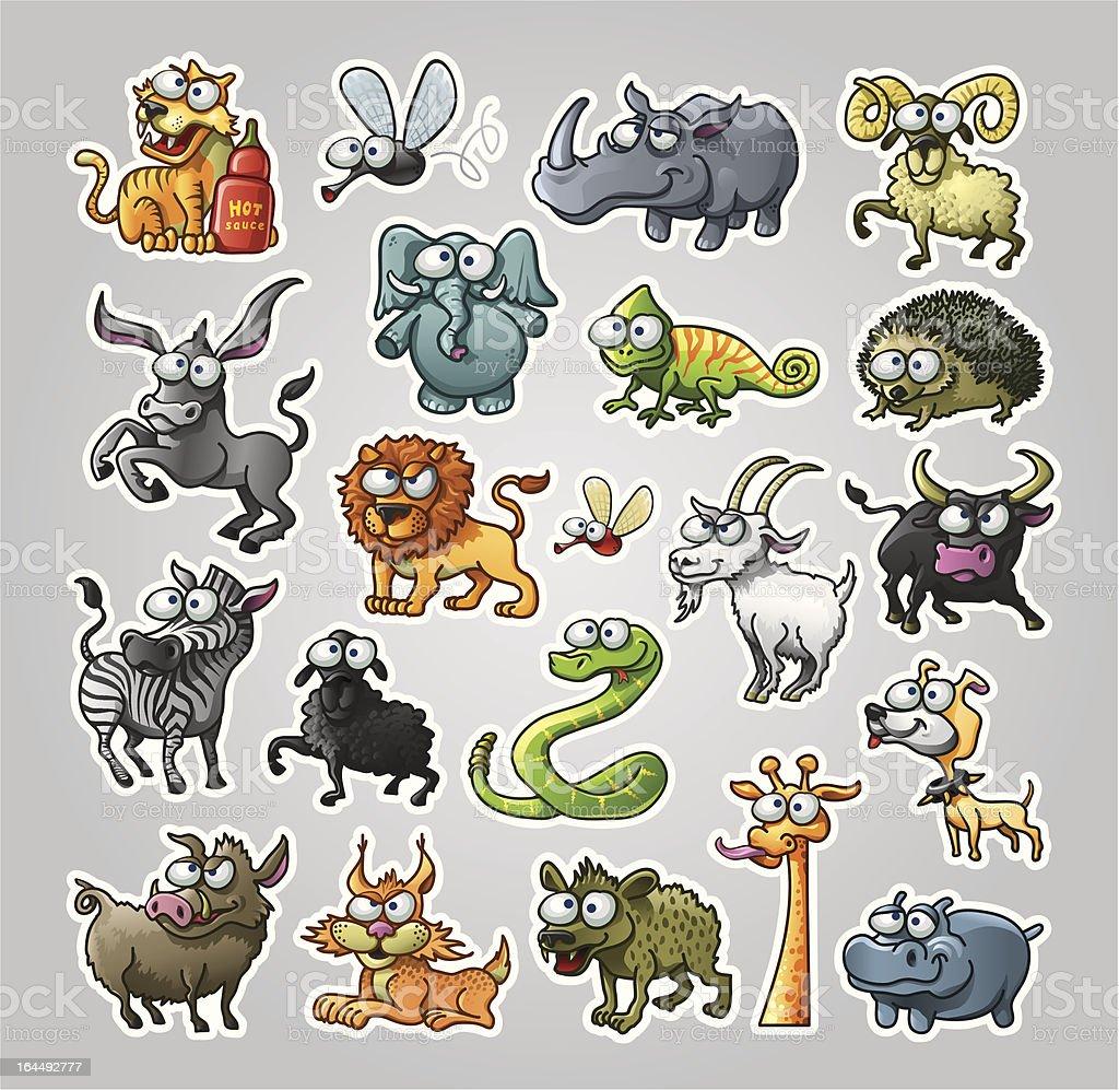 Animals Set vector art illustration