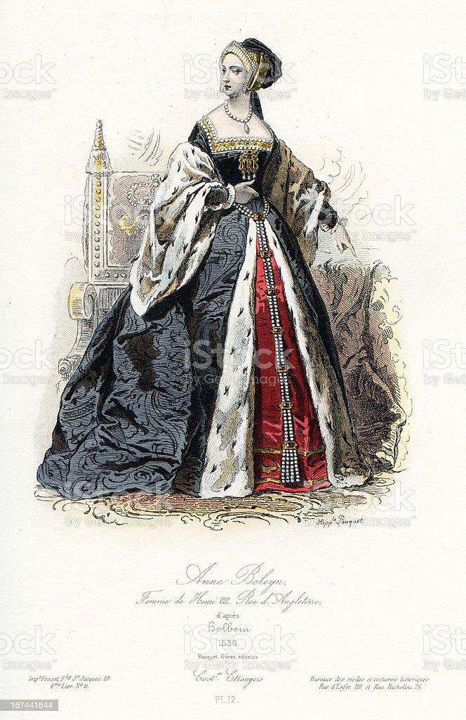 Anne Boleyn royalty-free stock vector art