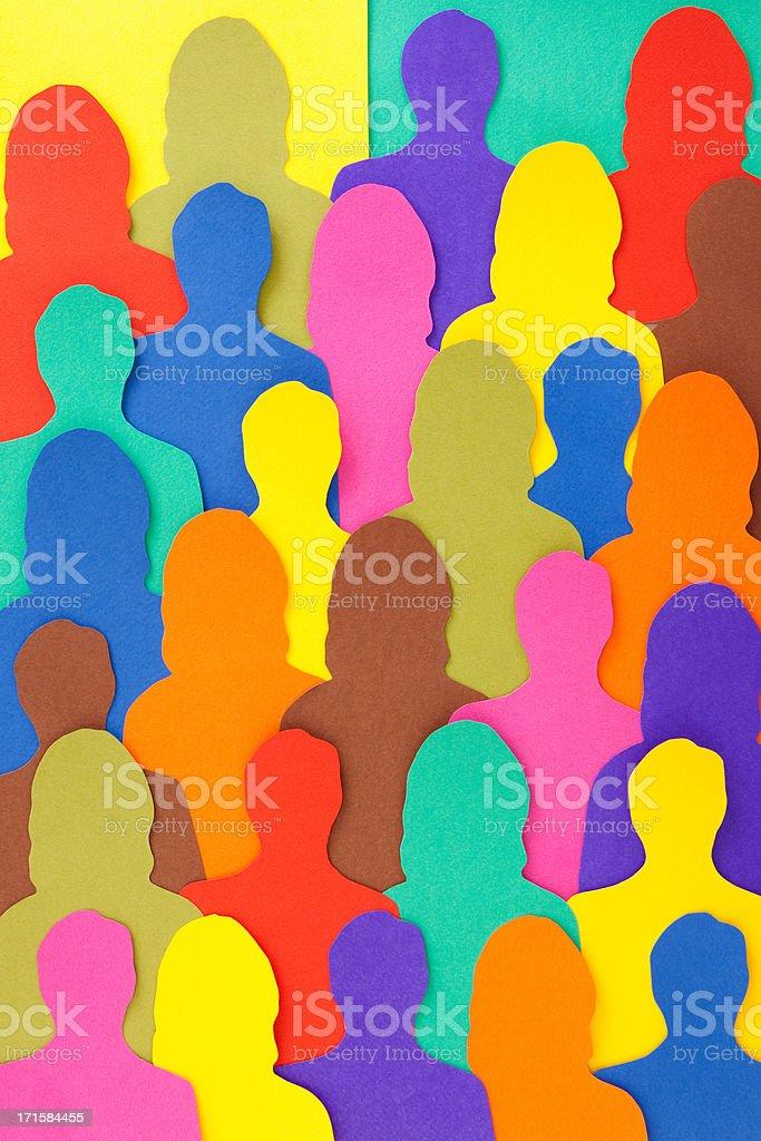 Anonymous crowd vector art illustration