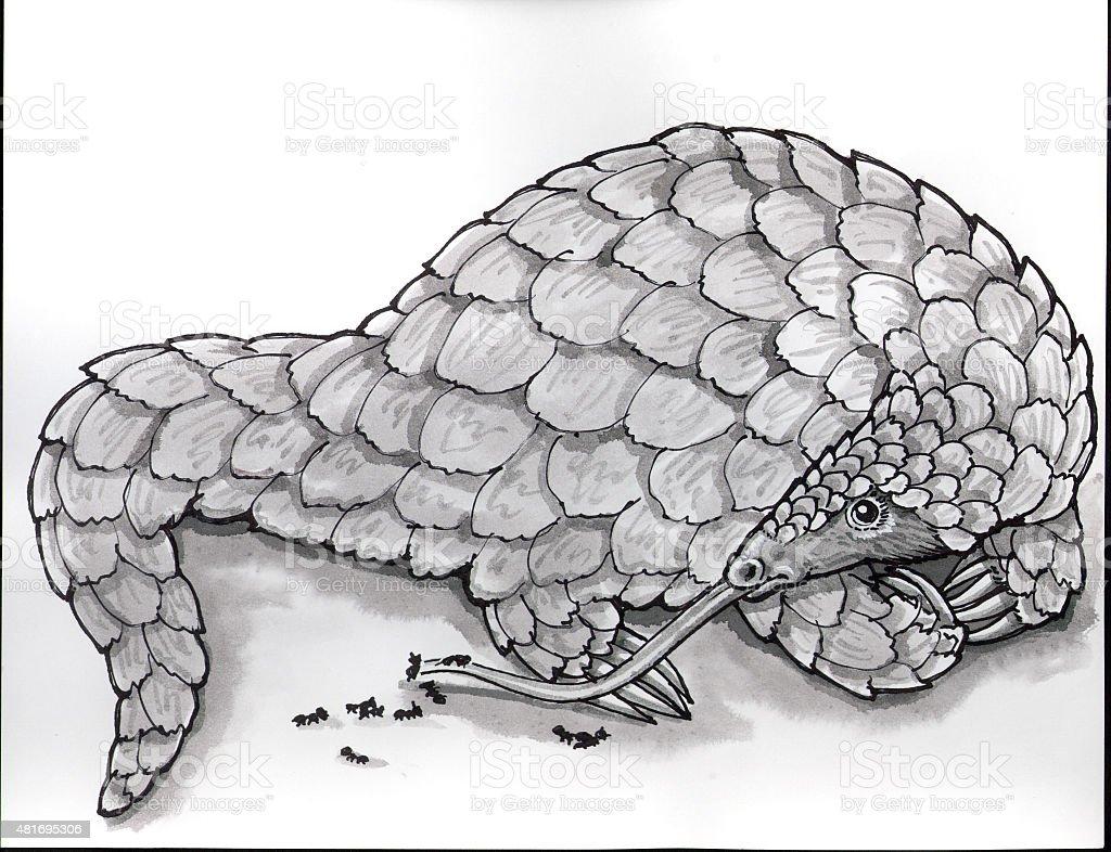 Ant Eater (Comic Lizenzfreies vektor illustration