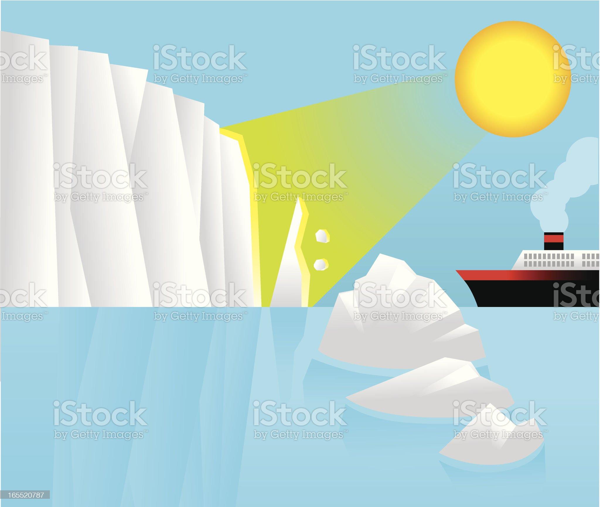 Antarctic Erosion royalty-free stock vector art