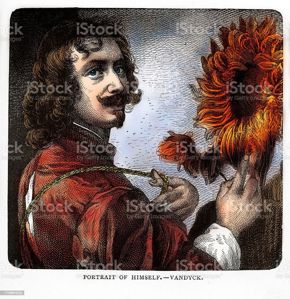 Anthony van Dyck Flemish Baroque Artist vector art illustration
