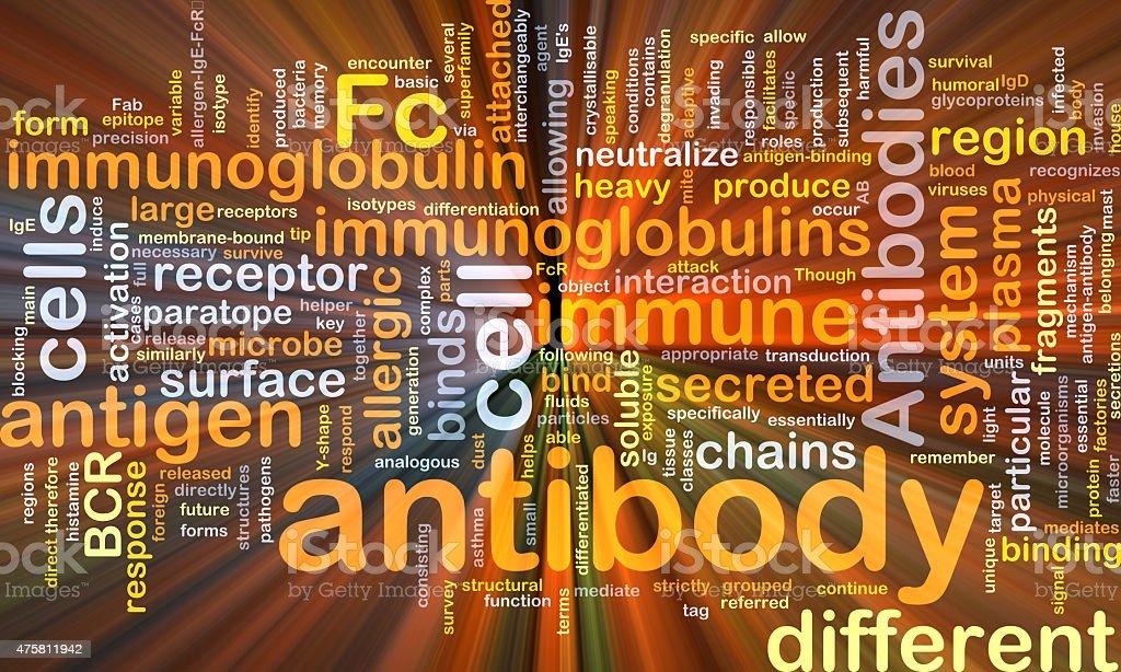 Antibody background concept glowing vector art illustration
