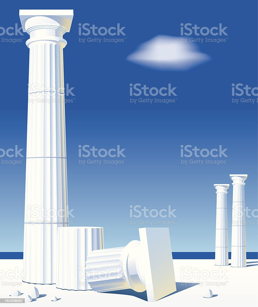 Antic columns vector art illustration