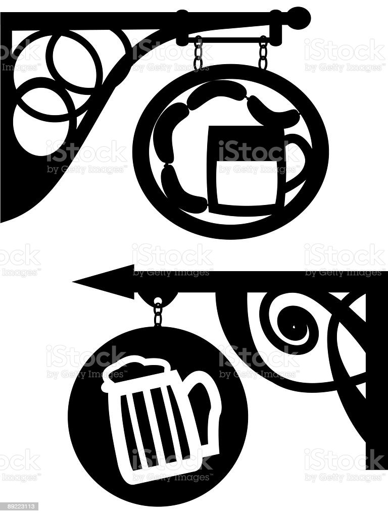 Antiquarian street signboard royalty-free stock vector art