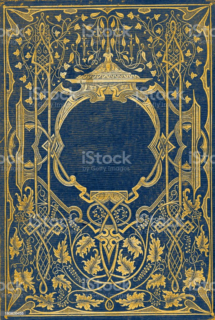 Antique book cover vector art illustration
