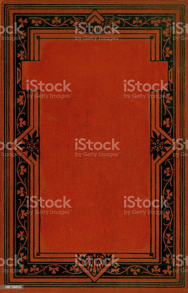 Antique book cover royalty-free stock vector art
