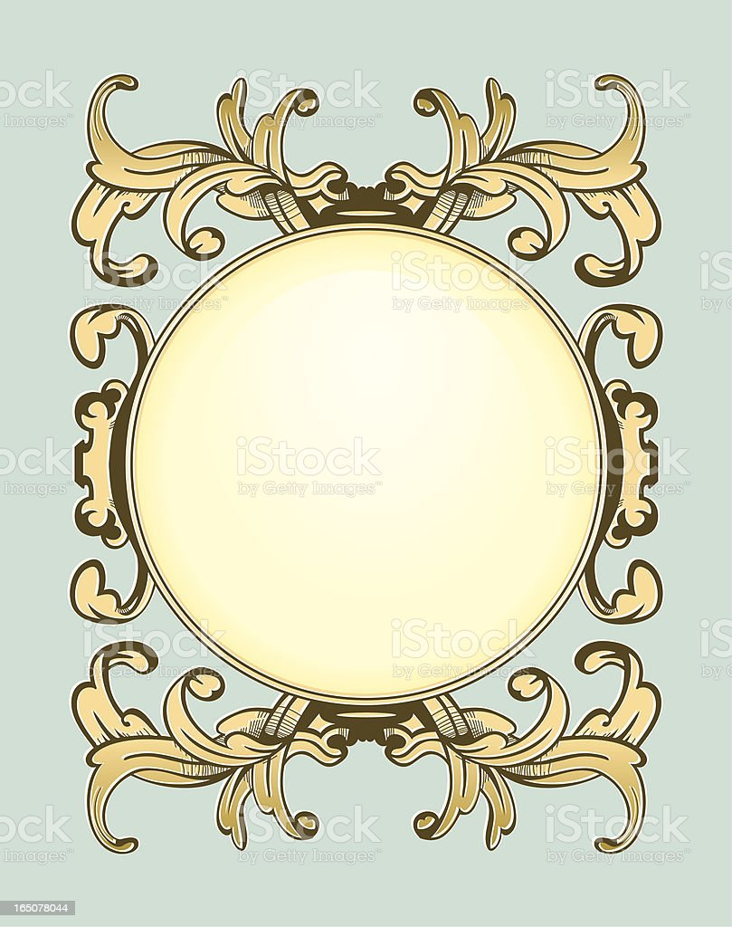 Antique frame vector art illustration