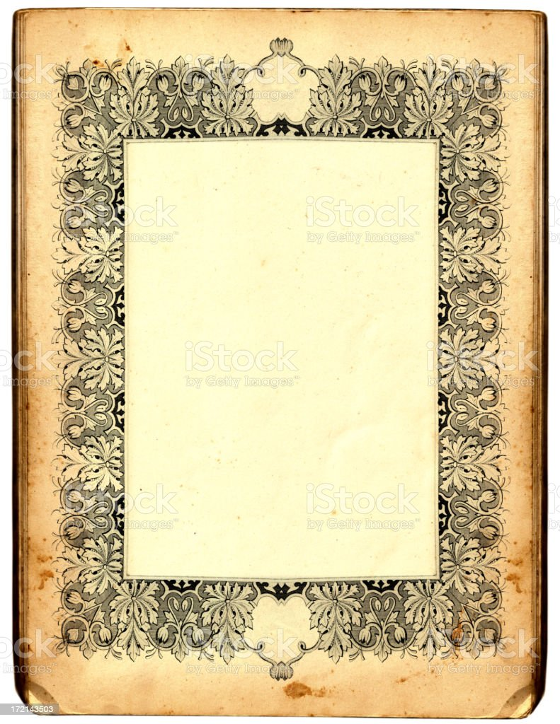 Antique frame royalty-free stock vector art