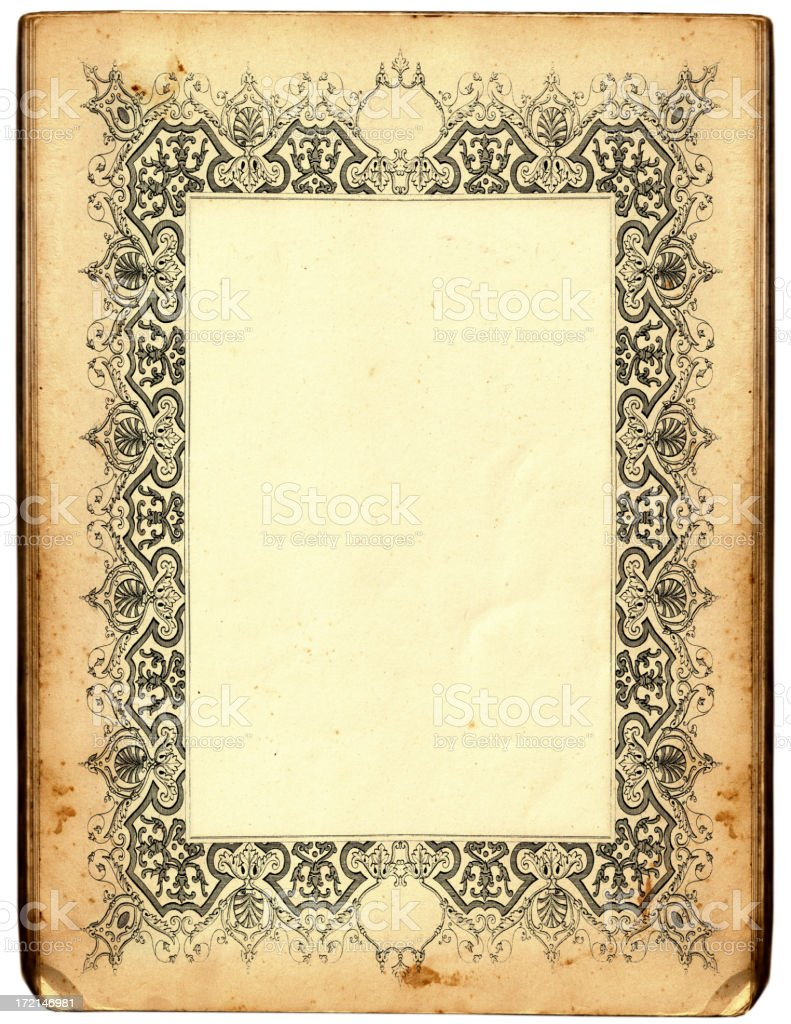 Antique frame royalty-free stock vector art
