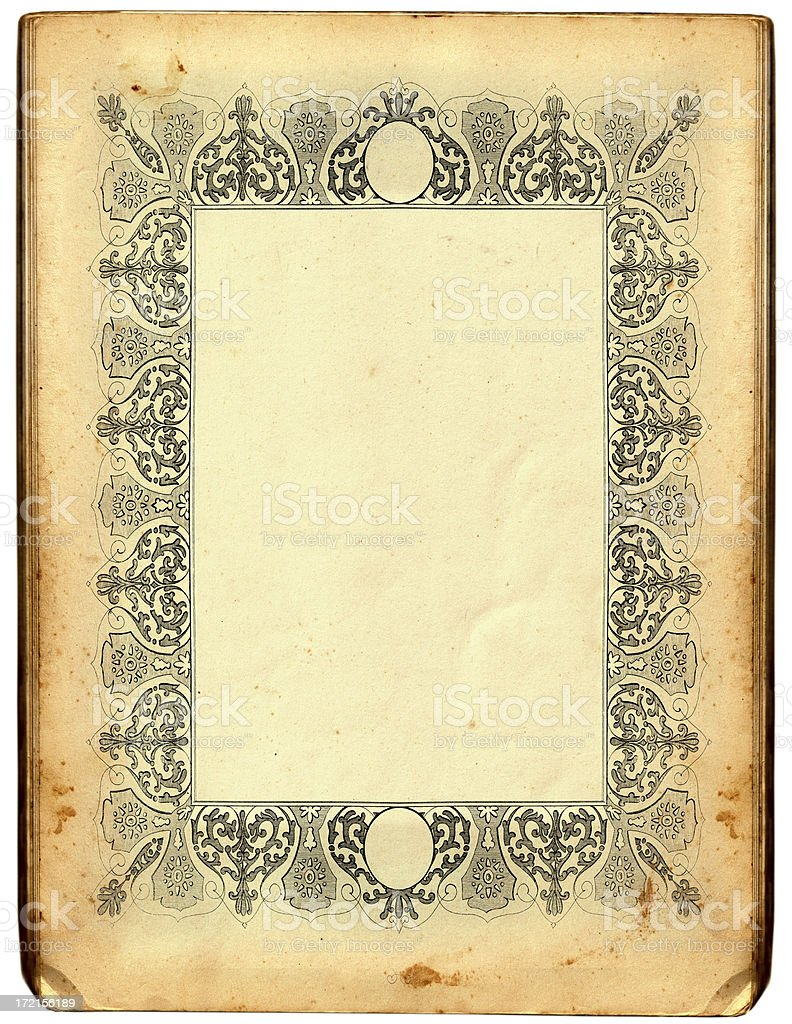 Antique frame vector art illustration