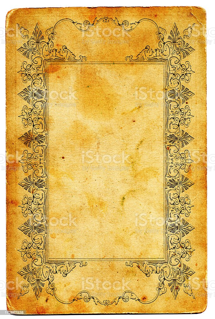 Antique frame XXL royalty-free stock vector art
