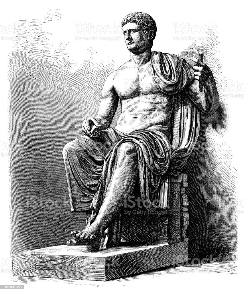 Antique illustration of Claudius vector art illustration