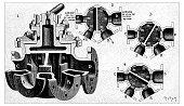 Antique illustration of double valve