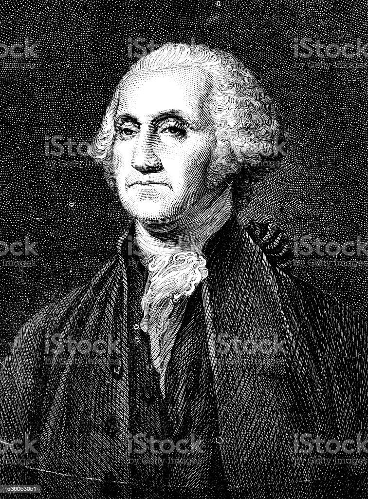 Antique illustration of George Washington vector art illustration