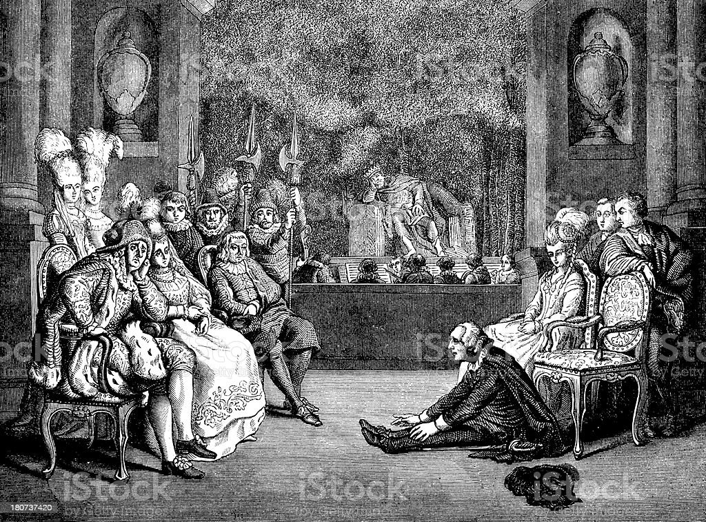 Antique illustration of Hamlet play royalty-free stock vector art