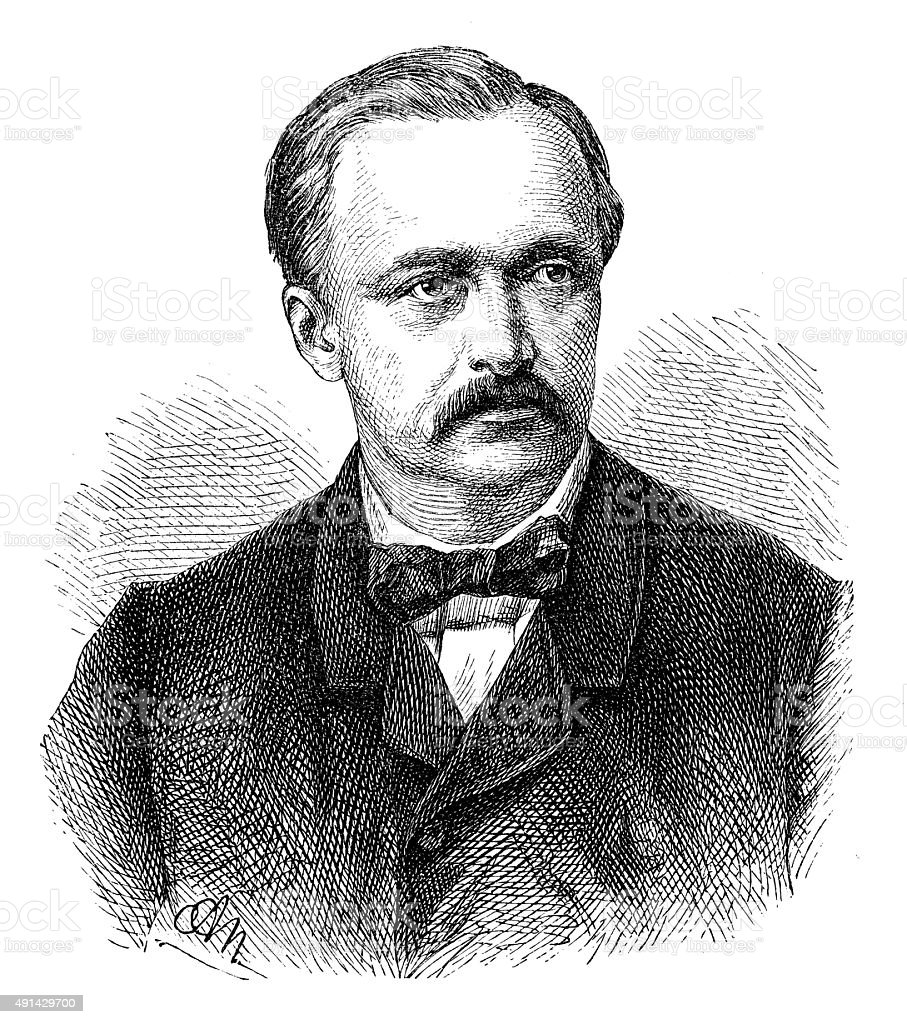 Antique illustration of Hermann Ludwig Ferdinand von Helmholtz vector art illustration
