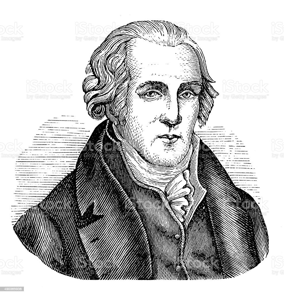 Antique illustration of James Watt vector art illustration
