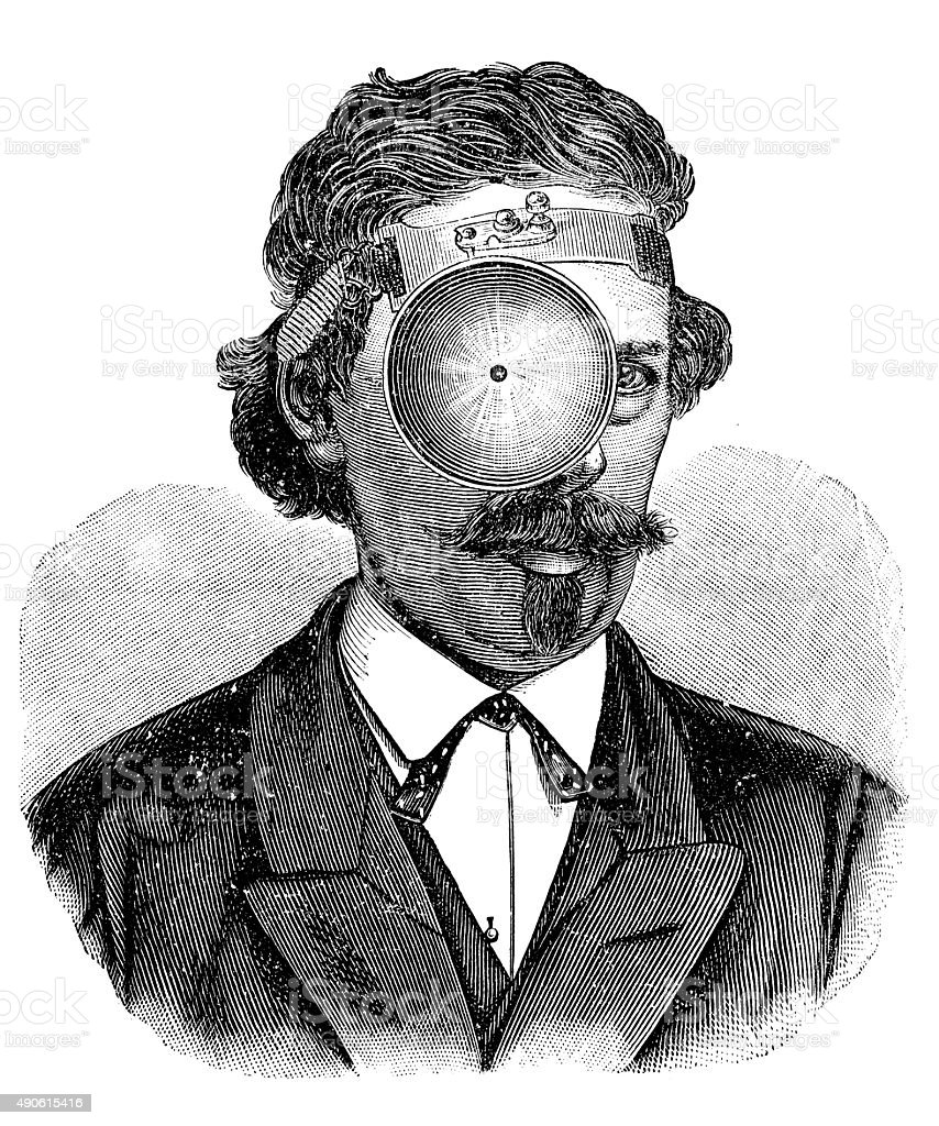 Antique illustration of medical tools vector art illustration