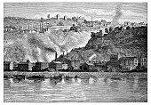 Antique illustration of Pittsburg