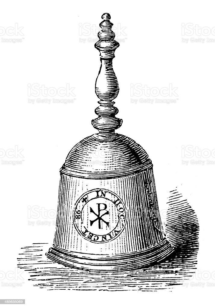 Antique illustration of queen Mary's bell vector art illustration