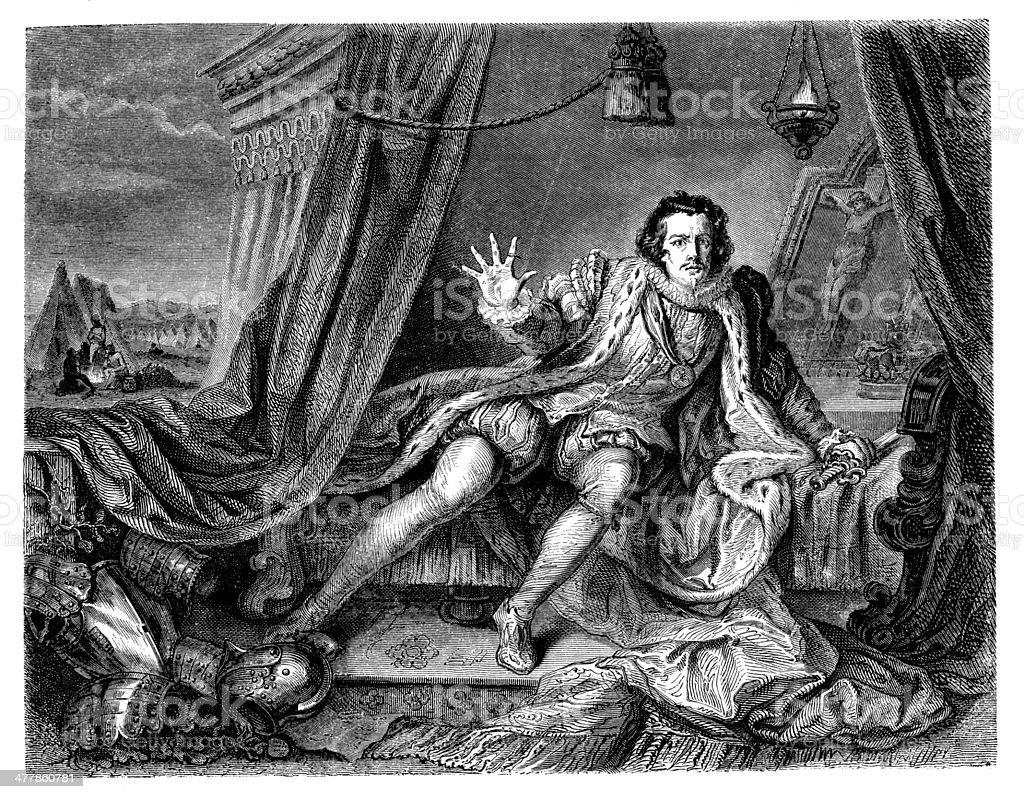 Antique illustration of Richard III royalty-free stock vector art