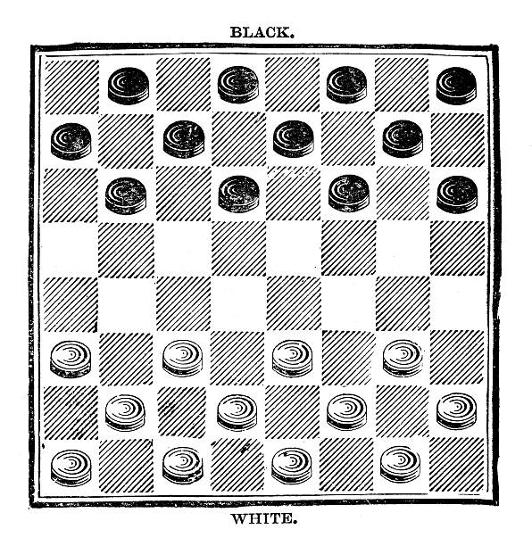 black and white checkers game