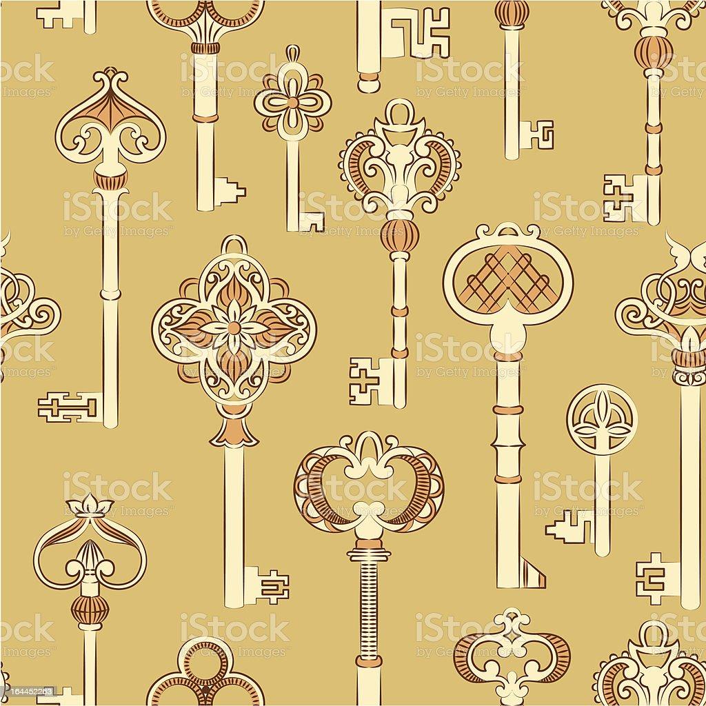 Antique keys royalty-free stock vector art