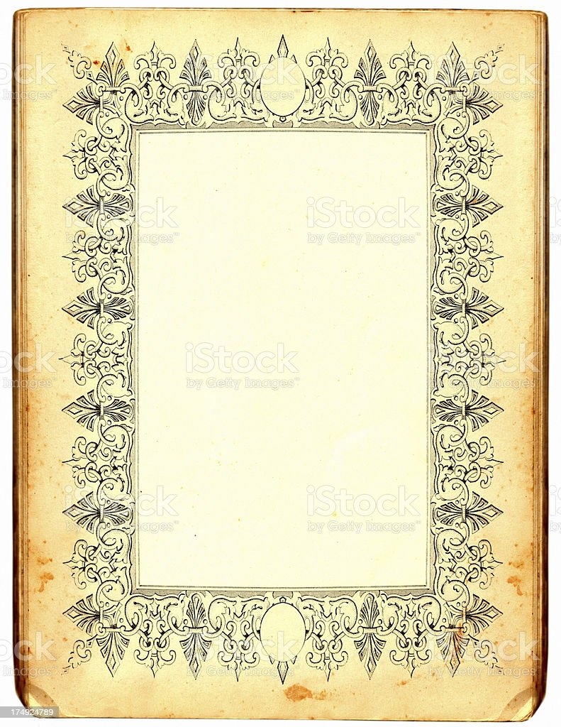 Antique paper frame royalty-free stock vector art