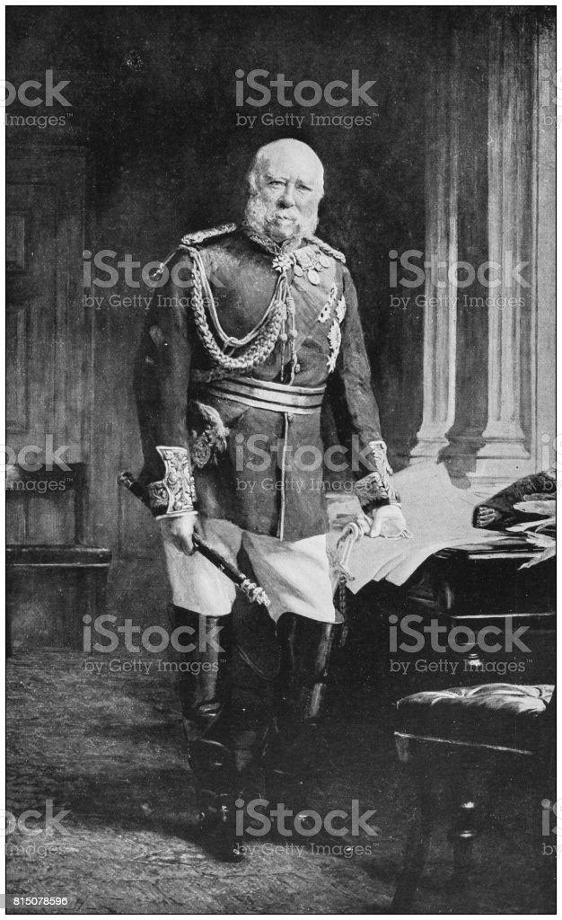 Antique photo of paintings: Duke of Cambridge vector art illustration