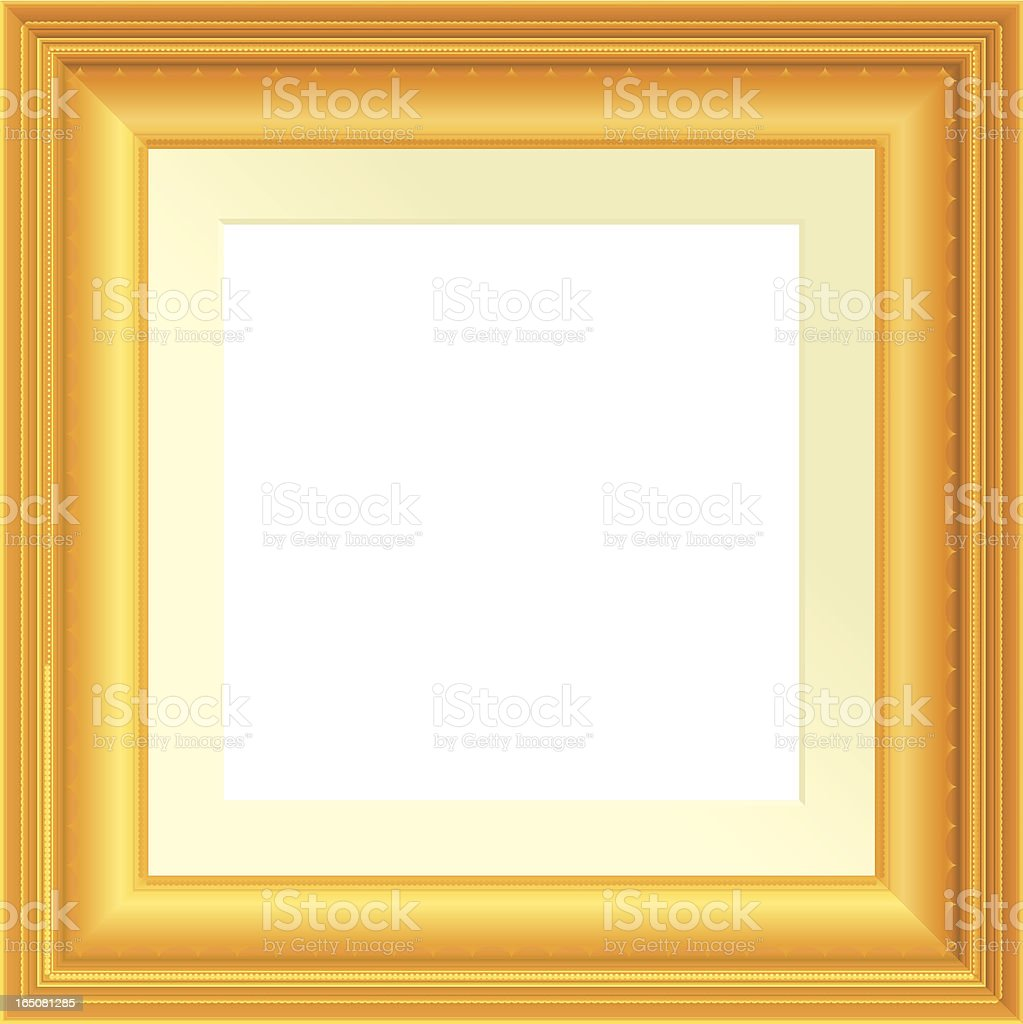 Antique square frame vector art illustration
