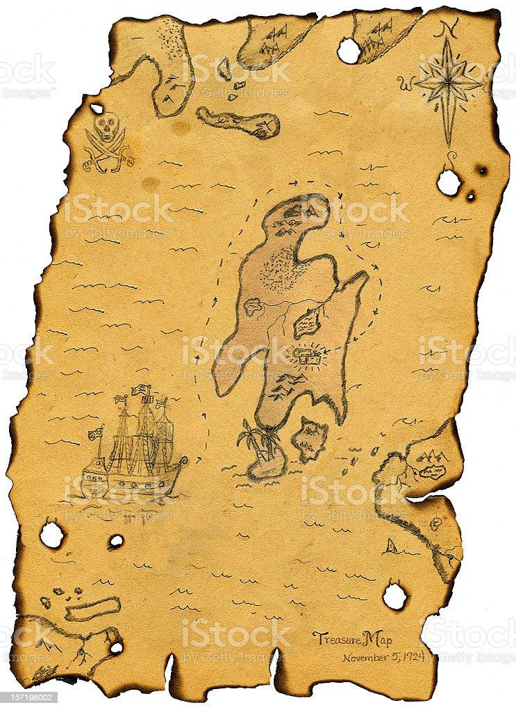 Antique Treasure Map royalty-free stock vector art